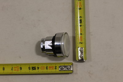 Frontelement Leuchtdrucktaster, Ø 22, weiß. 3389110122541 ZB4 BH013 Schneider Electric Telemecanique